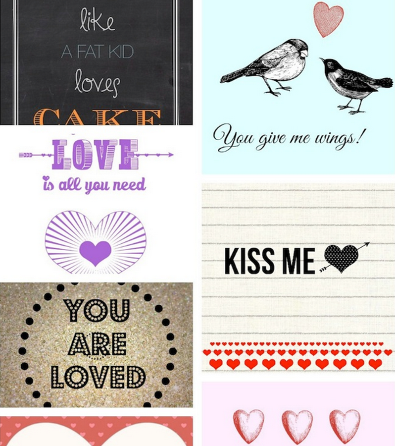 Valentines day printables | printouts | ecards
