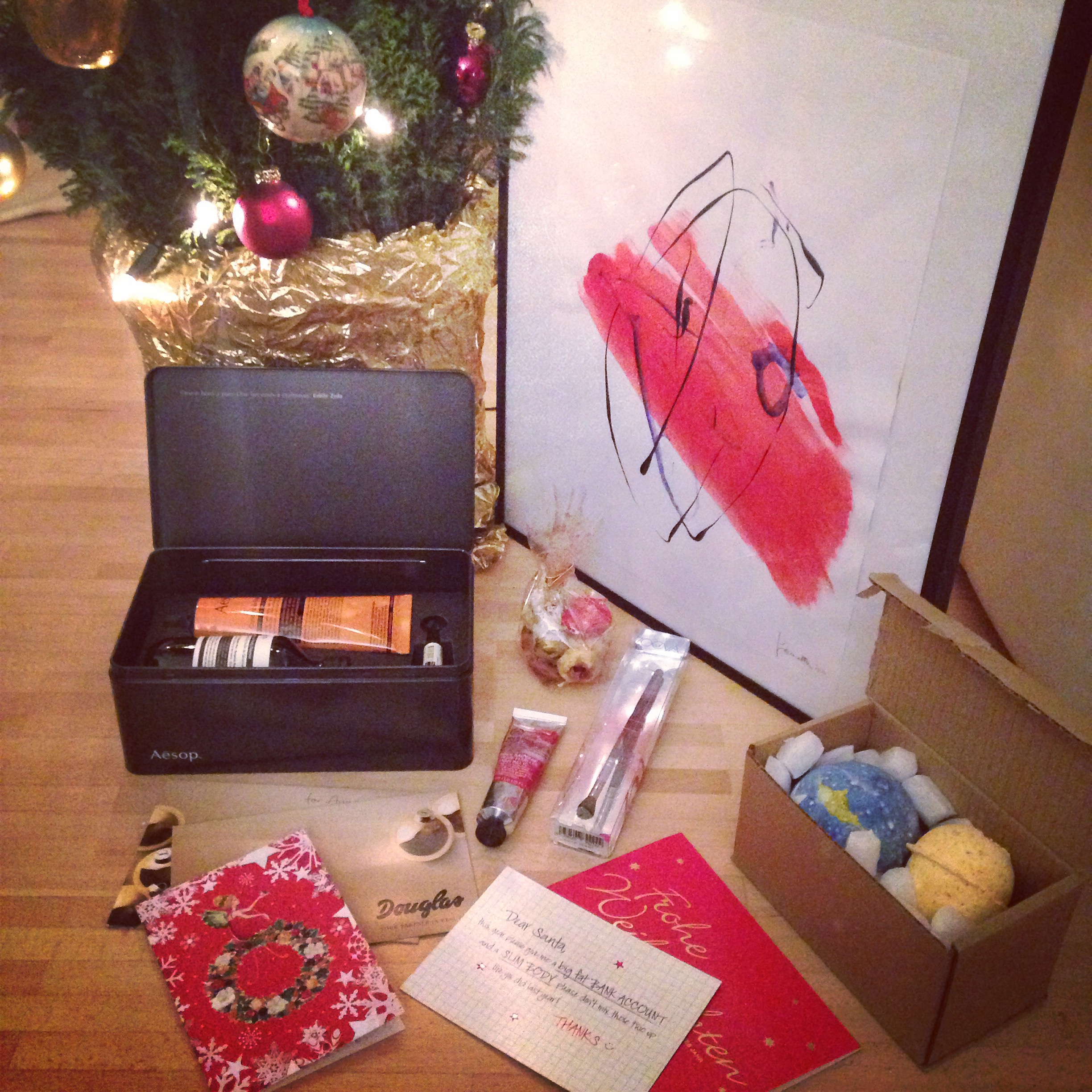 Happy new year and xmas with Aesop, Zoeva and Lush