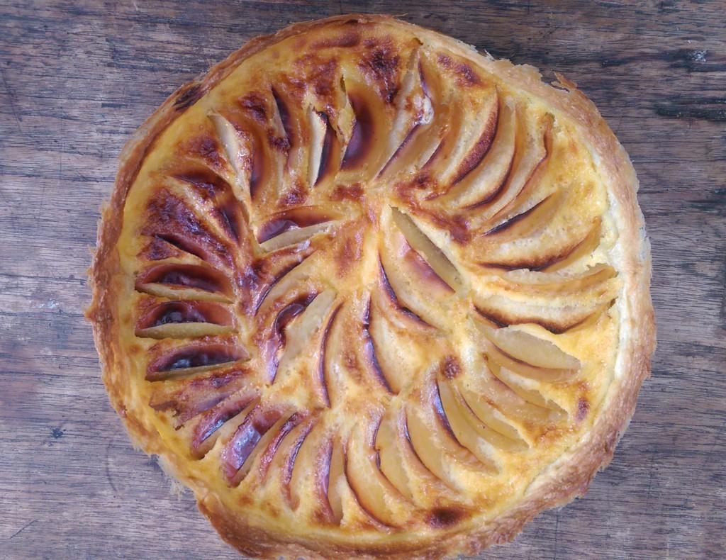 The tarte aux pommes