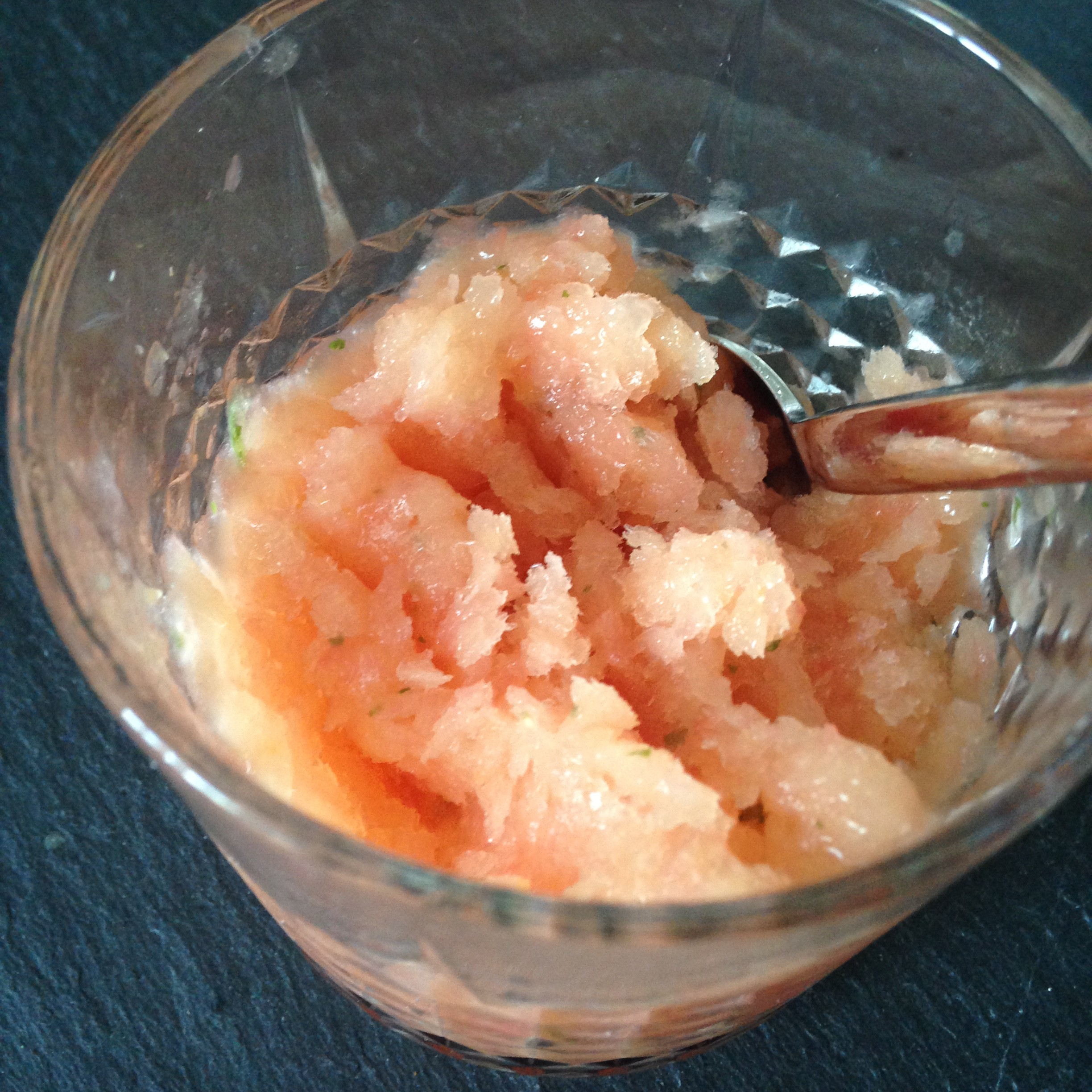 Recipe: papaya grapefruit granita | low fructose